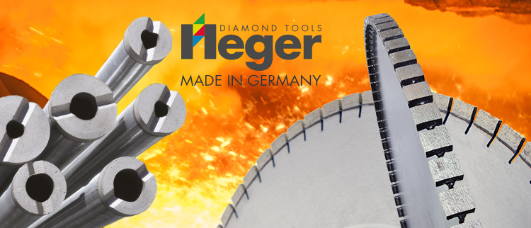 Heger diamond tools for refractory and industry applications