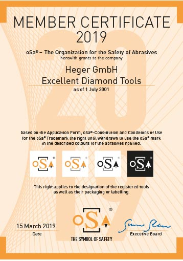 oSa Organisation for the Safety of Abrasives